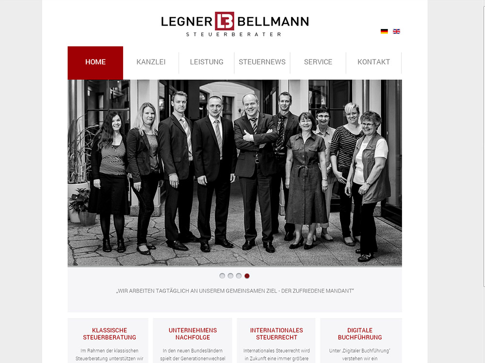 Marken- und Onlinerelaunch Legner & Bellmann