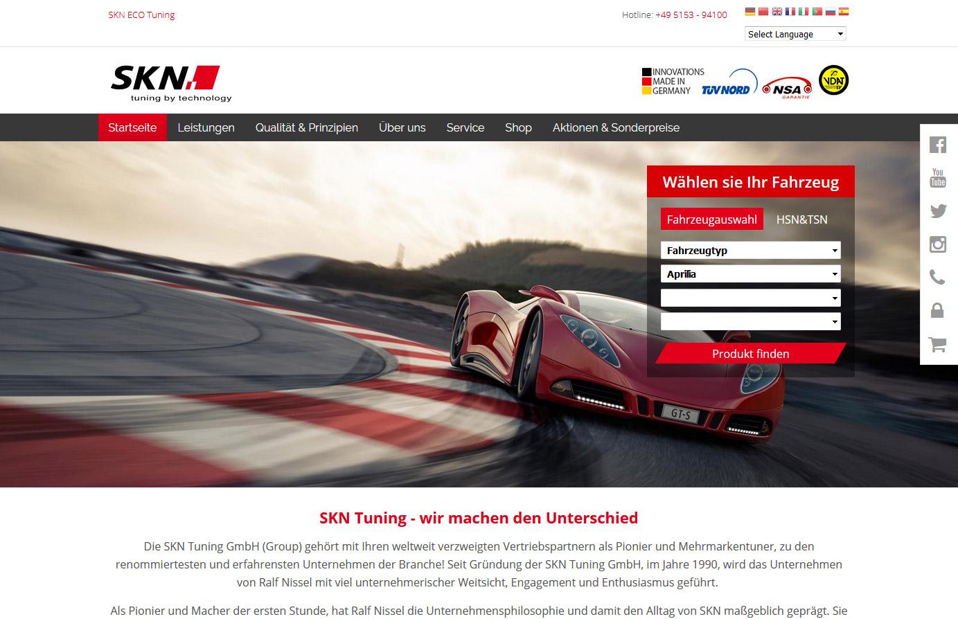 Relaunch - SKN Tuning Web/Shop